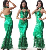 adult mermaid - 2015 new halloween costumes for women Green mermaid sexy dress sexy adult mermaid costume Stage performance clothing