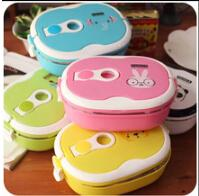 Wholesale Stainless Steel Thermal Insulated Bento Lunch Box for Kids Portable Lunchbox Food Container Tableware