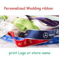 character ribbon - Personalized Gold Silver Edge Ribbon Birthday Party Festival cake Gift Wrap Wedding Decorations
