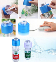dc caps - 2015 USB Portable ABS Water Bottle Cap Humidifier Purifier DC V Office Air Diffuser Aroma Mist Maker Absorbent Filter Sticks DHL Free