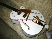 Wholesale White Custom Shop Falcon Hollow Jazz Guitar with bigbys Gold hardware HOT