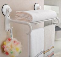 Wholesale HOT Double Stainless Steel Wall Mounted Bathroom Towel Rail Holder Rack Shelf