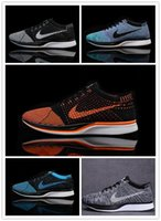 Wholesale NIKE FLYKNIT RACER man s running shoes top quity sports shoes fasht ship have colors women shoes sneakers fashion size