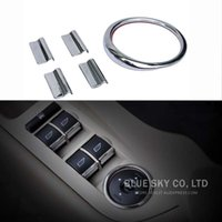 Wholesale Car Windows lift switch button Stainless steel for Ford Focus MK2 car sticker auto accessories