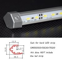 aluminum extrusion shapes - meter V shape corner led aluminium housing aluminium profile for LED strip aluminum extrusion with mounting caps
