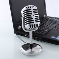 Wholesale New Microphone Stereo Laptop Retro Classic Computer Microphone PC Microphone Personalized