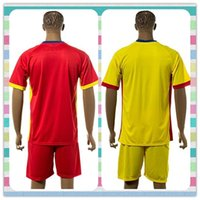 romania-soccer-jersey - New Product Uniforms Kit Romania European Patch Red Yellow Blank Jersey New Soccer Jersey Full shirt