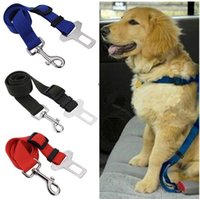 Wholesale 1pc Adjustable Lead Clip Dog Cat Pet Car Safety Seat Belt Vehicle Car Seat Belt Seatbelt Harness G01060