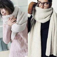 Wholesale South Korea explosion wool scarf Korean lady long warm winter scarf monochrome all match lovers D17