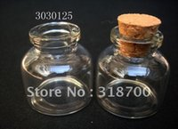 Cheap (DHL)Free Shipping -10ml glass bottle with wooden cork, cork stoppered bottle, glass vial,