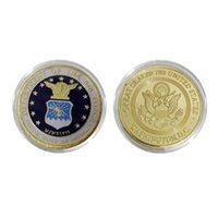 air force department - U S Military Coin Double Sides Department Of The Air Force Gold Plated Coin America Challenge Coin With Coin Capsule