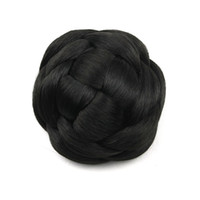hair bun piece - 100g Knitted Hair Chignon Synthetic Donut Roller Hairpieces hair pieces buns pc G660205