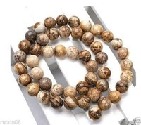 Wholesale 8mm Picture Jasper Round Gemstone Loose Beads