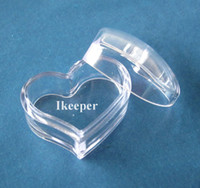Wholesale 100PCS Empty Cosmetic Lip Balm Pot Jar Container oz g Slanting Heart Shape