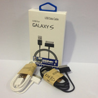 Wholesale USB Data Line Sync Charger Cable Adapter Cables with retail package for Samsung Galaxy Tab P1000 P7500 P6800 P6200 E066 N8000