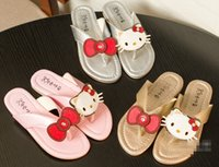 Wholesale Cartoon baby summer cool slippers new cheap children sandals beautiful bowknot girls fashion sandals pair B1