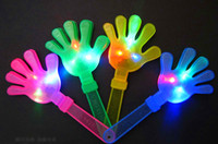 Wholesale 24 cm puntelli di acclamazione Dispositivo emitting fluorescente palmo della mano clap clap clap clap cheer puntelli flash Clap your hands