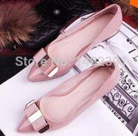 Wholesale Hot Selling WOMEN Elegant bow women shoe flat with color options pure shoes color low shoes