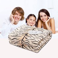 electric blanket - Hight Quality Tiger Pattern Electric Blanket Double Electric Heating Blanket Washable Heating Thermostat Electric Mattress