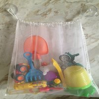 Wholesale High Quality Bayi Anak Bath Time Toy Tidy Storage Suction Cup Bag Mesh Net Bathroom Pengiriman Mesh Bag Organiser Gratis