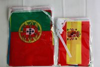 Wholesale 24 National STRING FLAG Euro Cup national activities decoration string flag international banner flag