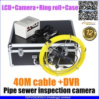 Wholesale 40m cable Waterproof ccd Sewer SNAKE Pipe Pipeline Inspection video camera G Record