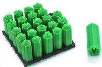 Wholesale Green plastic expansion screw stopper M6
