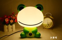 Wholesale Cute Cartoon animal night light Kids Bed Desk Table Lamp Night Sleeping led night lamp Gift