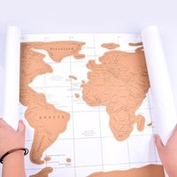 best wall maps - 88 cm Travel Scratch Map Scratch World Map Personalised World Map Poster Luckies Scratch Map World Wall Map Best Gift