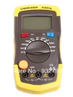 Wholesale new XC6013L Digital diaplay Meter Capacitance Capacitor Tester gauge test tools w probes order lt no track