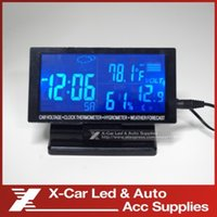 Wholesale Digital Monitor LCD Screen Digital Clock Car Thermometer Voltage Alarm Clock Calendar Hygrometer Weather Forecast V