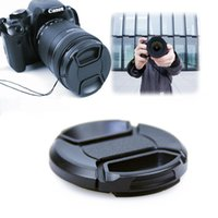 Wholesale New mm Front Lens Cap Hood Cover Snap For Canon Sony Olympus Nikon Camera