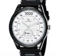 Cheap NEW V6 Casual Quartz Mens Multicolor WATCHBAND Watches Sport Wristwatch Dropship Silicone Clock Fashion Hours Dress Watch CHRISTMAS GIFT