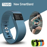 Wholesale TW64 Bluetooth Wristband Healthy Bracelet Waterproof Smartband Fitness Tracker Pedometer For samsung S6 Android for iphone iOS iphone
