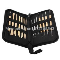 bathroom pottery - Durable New Pottery Polymer Clay Sculpting Tool Set In Zippered Case Pottery Tool