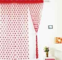 Wholesale 40PCS HHA104 heart shaped Curtain Details about Window Room Divider Curtain Valance Heart Line Tassel String Door Curtain New