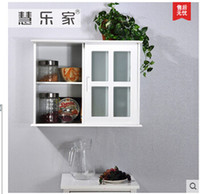 Wholesale Hui happy home with the door cabinets Pure white rural style Bathroom closet hanging cabinet condole storage cabinet