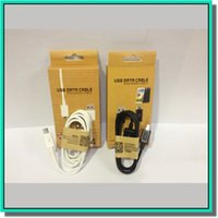 al por mayor cajas de cable gratis-El cable micro V8 V9 del USB 1M 3FT MEJOR el blanco del negro del cable del cargador de la sinc. De los datos del cable del USB de la calidad con la caja al por menor DHL libera el envío