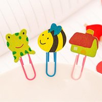 Wholesale Hot set Mix Colours Cute Cartoon Bookmarkers Cartoon Paperclips Learning Filing Supplies for Books Pages Holder Kids Gifts Toys