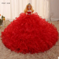 Wholesale 2016 handmade high end Bobbi doll apparel wedding gift red kids toys cloth
