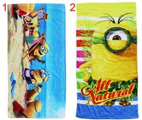 Wholesale 15pcs CM Despicable me Minions towel bath towels for children towel kids beach towel
