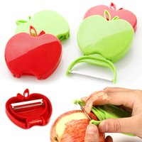 apple fruit press - Stainless steel apple peel peeler knife fruit knife melon plane folding kitchen gadgets Garlic Press zester