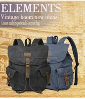 Wholesale Canvas Shoulder Laptop Backpack School Bag Fashion For Man Travelling Outdoors Two Color Hot Selling New Brand