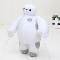 Revisiones Juguetes robot-Nueva Big Hero 6 Baymax Robot felpa rellena Animales Juguetes 18cm Gfit Navidad para los niños