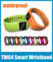 Wholesale Smart Wristband TW64 Bracelet Bluetooth Waterproof Passometer Sleep Fitness Tracker Smart Watch For Android IOS Phone OTH048