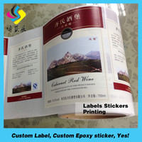 Wholesale High quality red wine bottle labels
