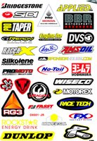 Wholesale Size Stickers For Motorcycles - Big Size 45cm x 30cm Rockstar Skull Stickers For Motorcycle BIKE CAR UNIT SCOOTER FUNNY DECALS STICKERS PVC Waterproof