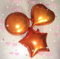 b balloon - 50pcs alumnum balloons Festival party supplies New inch round orange foil balloons birthday party arranged CunXin shaped pearl pink b
