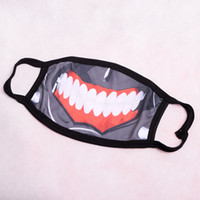 Wholesale New Anime Tokyo Ghoul Kaneki Ken Mask Respirator Cotton Prop Cosplay Accessory Ghost Zombie Half Face
