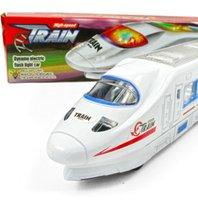 electric train toy - CRH high speed rail train model toy produced in China s electric flash high speed simulation